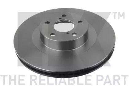 Вентилируемый тормозной диск на SUBARU XV 'NK 204412'.