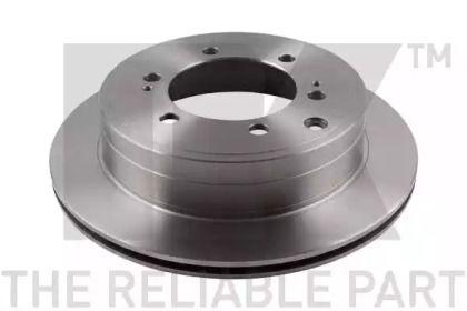 Вентилируемый тормозной диск на TOYOTA LAND CRUISER 'NK 2045101'.