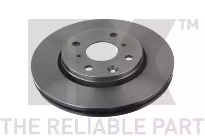 Вентилируемый тормозной диск на CITROEN C1 'NK 2045102'.