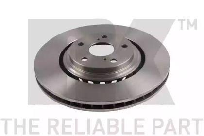 Вентилируемый тормозной диск на Тайота Хайлендер 'NK 2045176'.