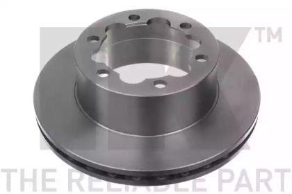 Вентилируемый тормозной диск на Фольксваген Крафтер 'NK 2047124'.