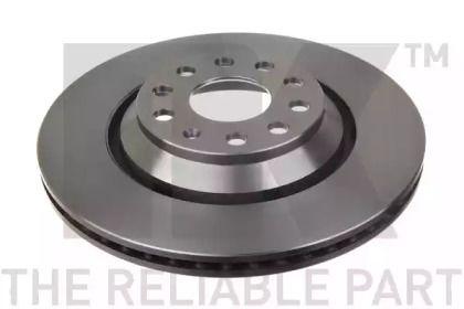 Вентилируемый тормозной диск на VOLKSWAGEN TIGUAN 'NK 2047136'.