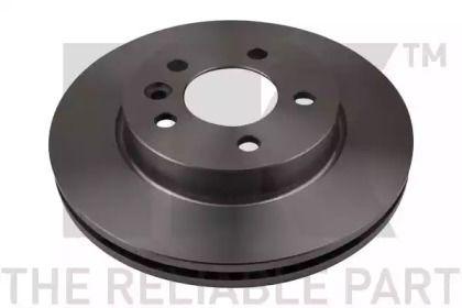 Вентилируемый тормозной диск на VOLKSWAGEN AMAROK 'NK 2047139'.