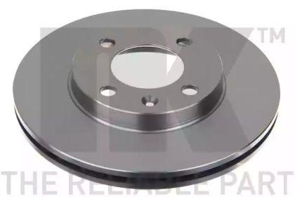 Вентилируемый тормозной диск 'NK 204724'.