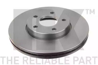 Вентилируемый тормозной диск на VOLVO V50 'NK 204848'.