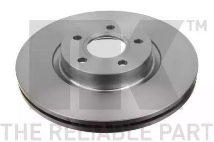 Вентилируемый тормозной диск на Форд Гранд С-макс 'NK 204849'.