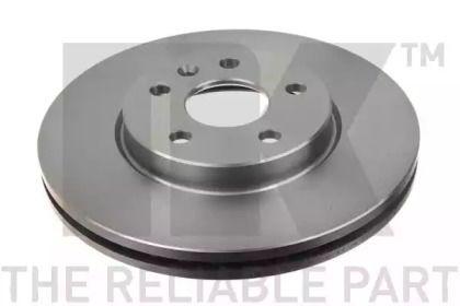 Вентилируемый тормозной диск на CHEVROLET CRUZE 'NK 205013'.