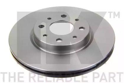 Вентилируемый тормозной диск на Фиат Гранде пунто 'NK 209921'.