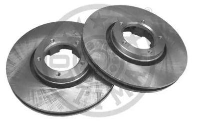 Вентилируемый передний тормозной диск 'OPTIMAL BS-1640'.