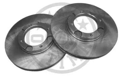Вентилируемый передний тормозной диск на Хендай Пони 'OPTIMAL BS-3740'.