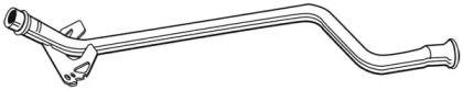Приймальна труба глушника WALKER 09121 малюнок 1