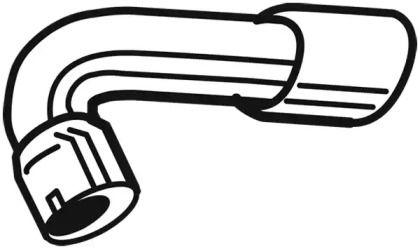 Приемная труба глушителя 'WALKER 10731'.