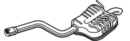 Глушитель на VOLKSWAGEN JETTA 'WALKER 25143'.