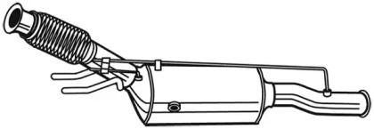 Сажі / частковий фільтр, система вихлопу ОГ WALKER 73171 малюнок 1