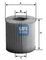Масляний фільтр 'UFI 25.008.00'.