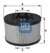 Масляний фільтр UFI 25.015.00.