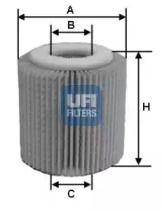Масляный фильтр 'UFI 25.056.00'.