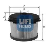 Топливный фильтр 'UFI 26.688.00'.