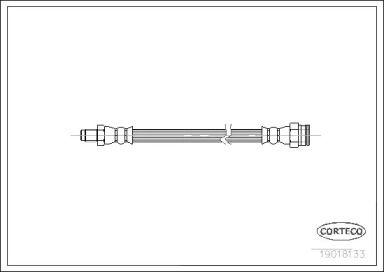 Шланг тормозной задний на Фиат Мареа 'CORTECO 19018133'.