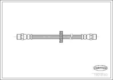 Шланг гальмівний задній CORTECO 19018180.