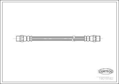 Шланг тормозной задний на Сеат Толедо 'CORTECO 19018182'.