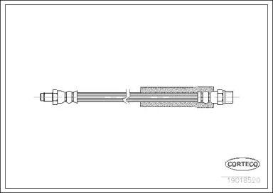 Шланг гальмівний задній CORTECO 19018520.