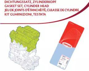 Комплект прокладок ГБЦ 'CORTECO 417377P'.