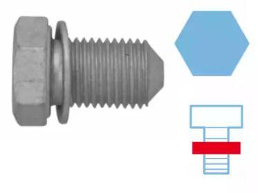 Резьбовая пробка, масляный поддон на Сеат Альтеа 'CORTECO 220125S'.