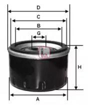 Масляний фільтр на Фіат Тіпо 'SOFIMA S 2530 R'.