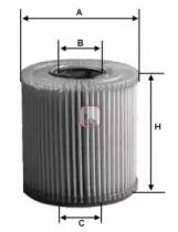 Масляний фільтр на Мерседес ГЛЕ  SOFIMA S 5069 PE.