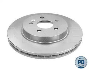 Вентилируемый передний тормозной диск на Мерседес М класс 'MEYLE 083 521 2041/PD'.