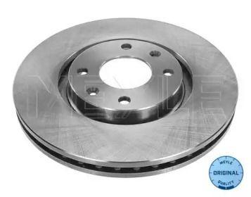 Вентилируемый передний тормозной диск на Ситроен ДС5 'MEYLE 11-15 521 0018'.