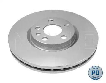 Вентилируемый передний тормозной диск на Лянча Федра 'MEYLE 11-15 521 0035/PD'.