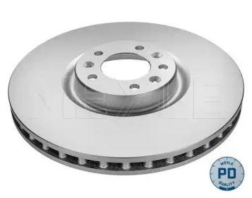 Вентилируемый передний тормозной диск на Ситроен С6 'MEYLE 11-15 521 0039/PD'.