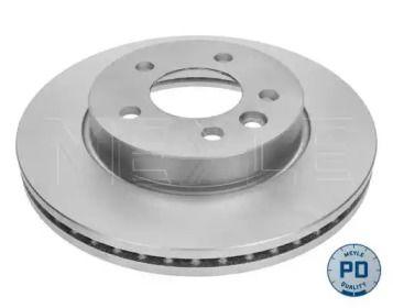 Вентилируемый передний тормозной диск на VOLKSWAGEN AMAROK 'MEYLE 115 521 0026/PD'.