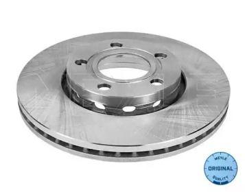 Вентилируемый передний тормозной диск на AUDI QUATTRO 'MEYLE 115 521 1008'.