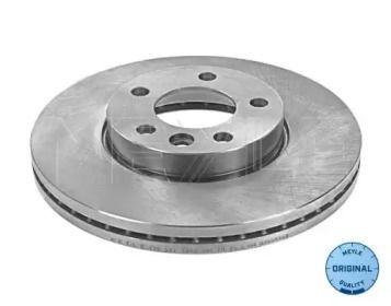 Вентилируемый передний тормозной диск на VOLKSWAGEN TOUAREG 'MEYLE 115 521 1053'.