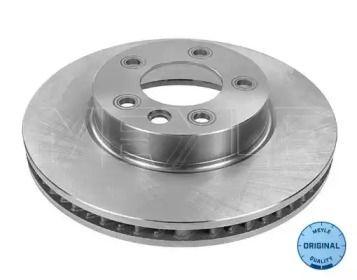 Вентилируемый передний тормозной диск на Порше Кайен 'MEYLE 115 521 1101'.