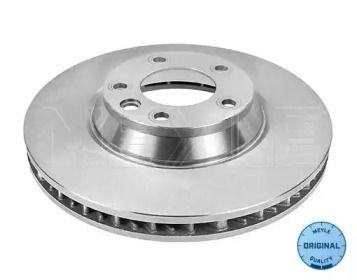 Вентилируемый передний тормозной диск на Порше Кайен 'MEYLE 115 521 1104'.