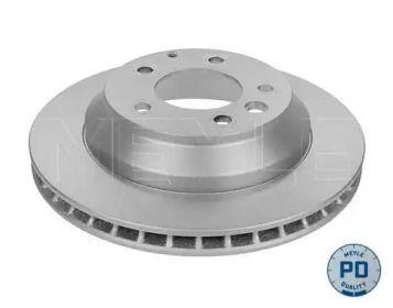Вентилируемый задний тормозной диск на PORSCHE CAYENNE 'MEYLE 115 523 0041/PD'.