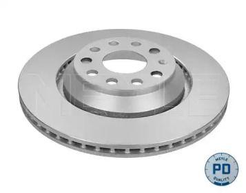 Вентилируемый задний тормозной диск на VOLKSWAGEN PASSAT ALLTRACK 'MEYLE 115 523 1093/PD'.
