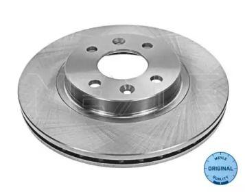 Вентилируемый передний тормозной диск 'MEYLE 16-15 521 0036'.
