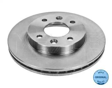 Вентилируемый передний тормозной диск 'MEYLE 16-15 521 0003'.