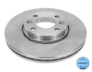 Вентилируемый передний тормозной диск на DACIA DOKKER 'MEYLE 16-15 521 0027'.
