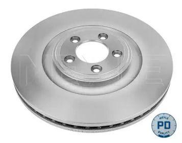 Вентилируемый передний тормозной диск на Ягуар Ф-тайп 'MEYLE 18-83 521 0008/PD'.