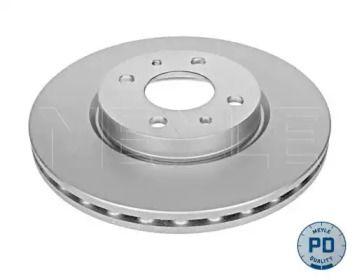 Вентилируемый передний тормозной диск на Альфа Ромео Мито 'MEYLE 215 521 0002/PD'.