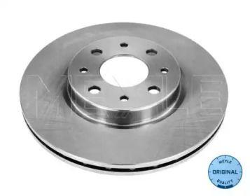 Вентилируемый передний тормозной диск на FIAT GRANDE PUNTO 'MEYLE 215 521 0008'.