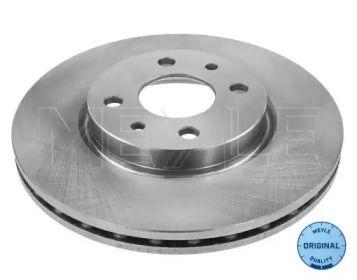 Вентилируемый передний тормозной диск на CITROEN NEMO 'MEYLE 215 521 0002'.