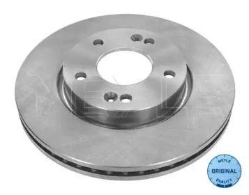 Вентилируемый передний тормозной диск на HYUNDAI IX20 'MEYLE 28-15 521 0022'.