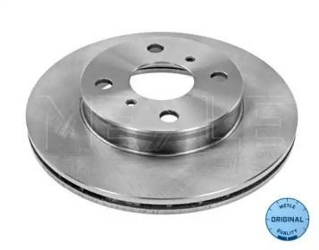 Вентилируемый передний тормозной диск на Тайота Старлет 'MEYLE 30-15 521 0023'.